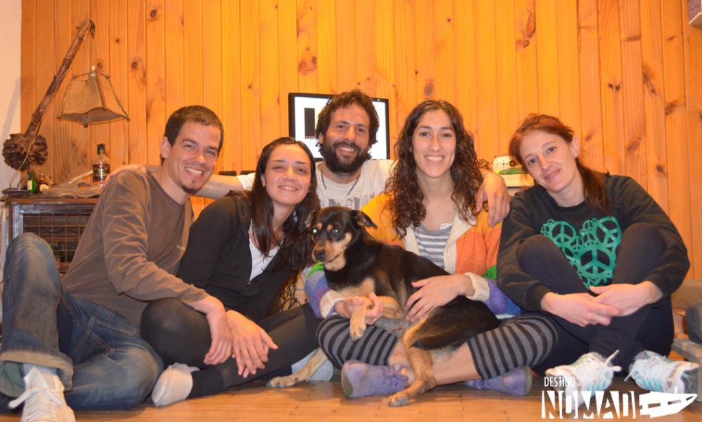 Nuestra familia en San Julián. Juan-Soli-Pablo-Mariel-Colo y Alu