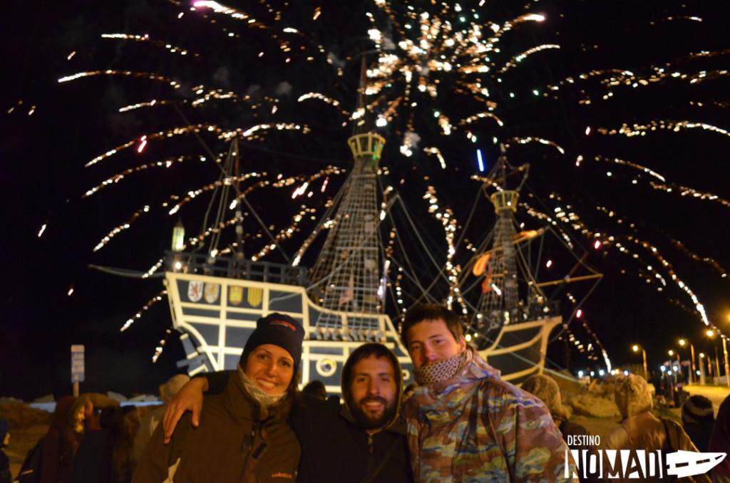 Con amigos viajeros: Andrea, Pablo y Clement