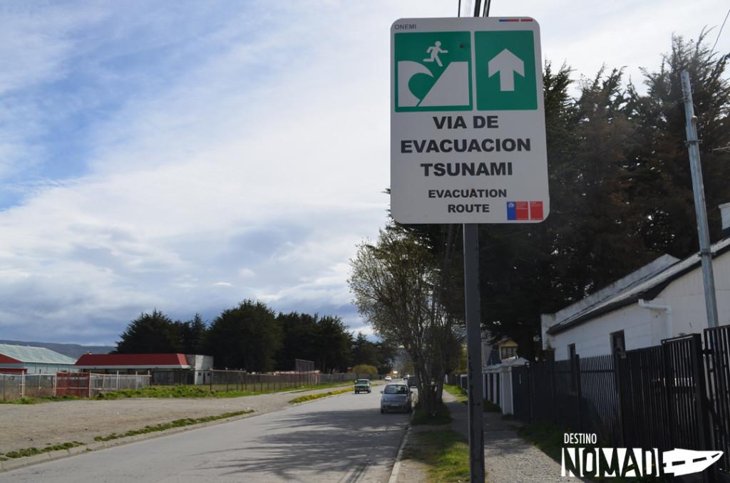 Evacuación en Punta Arenas