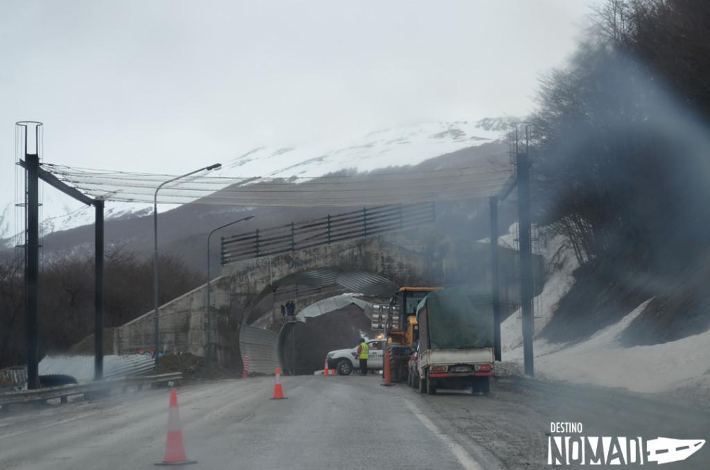 ushuaia, tunel caido