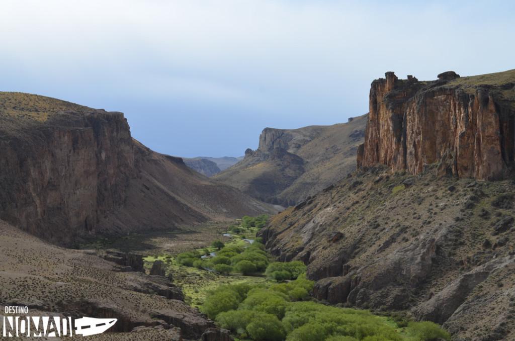 Cañón del río Pinturas en Cueva de las Manos, Ruta 40