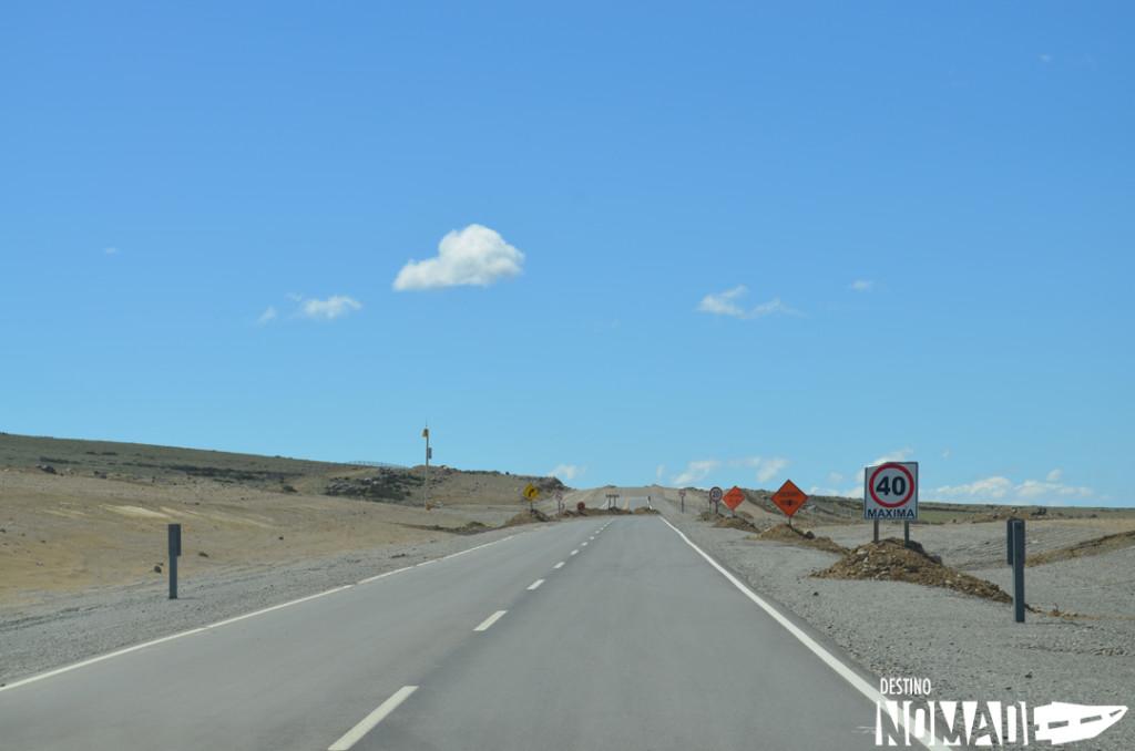 Ripio en la Ruta 40