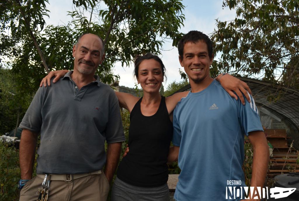 Con José Luis, colega rodantero y nuestro salvador
