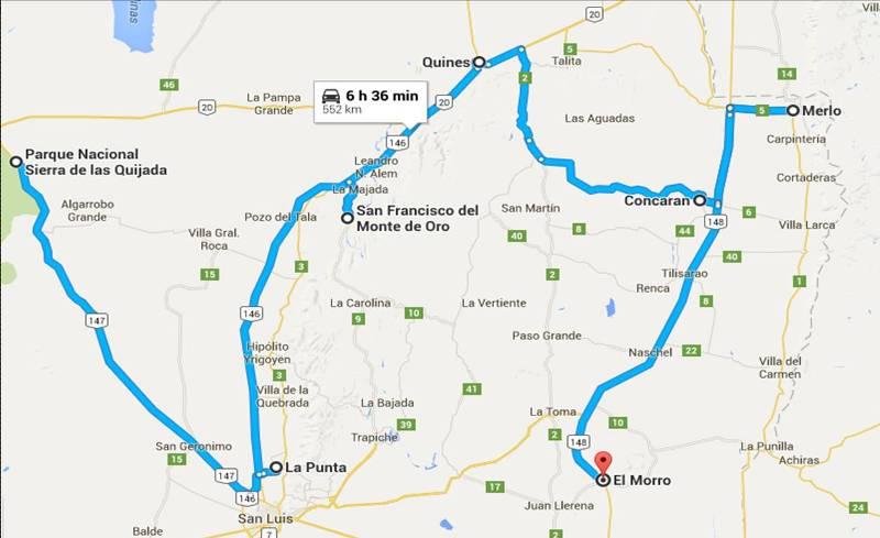 mapa norte san luis
