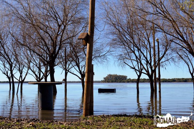 Camping inundado en Colón