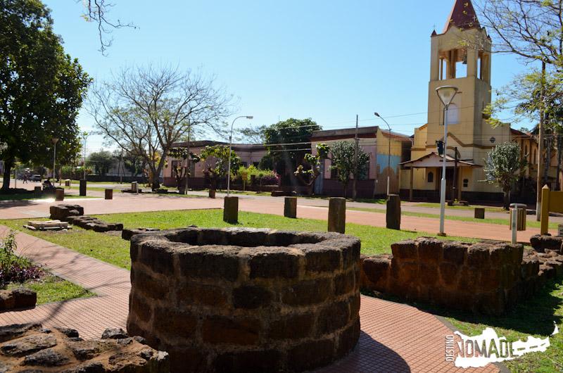 Lo poco que queda de la misión en Concepción de la Sierra puede verse en la plaza actual.