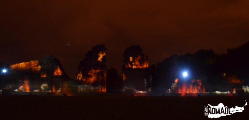 Recreación nocturna en San Ignacio mediante imágenes y sonido.