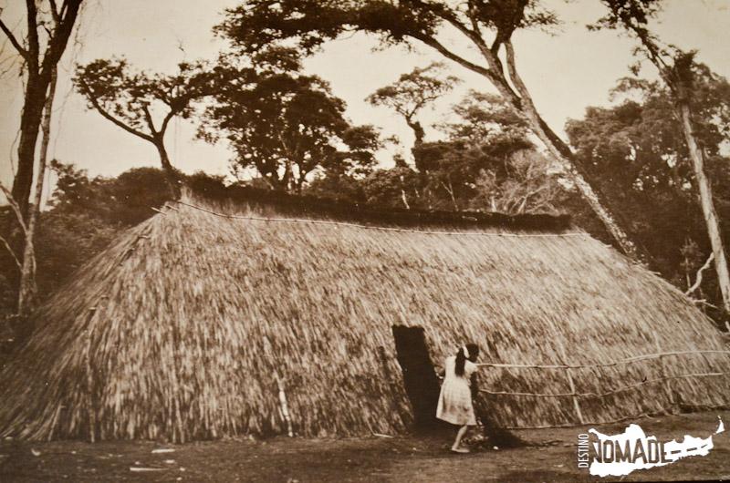 Chozas de los guaraníes en las misiones