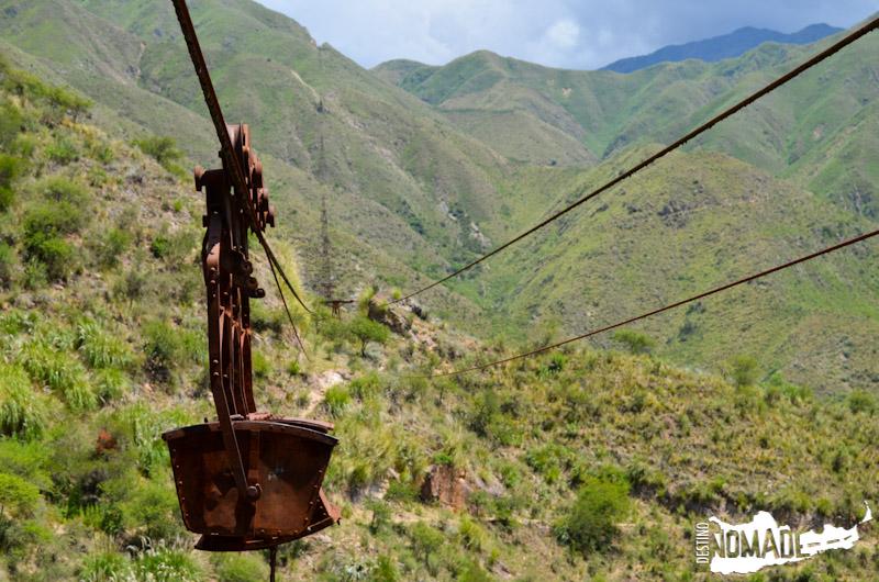La tercera estación del cablecarril a la mina La Mexicana, Chilecito