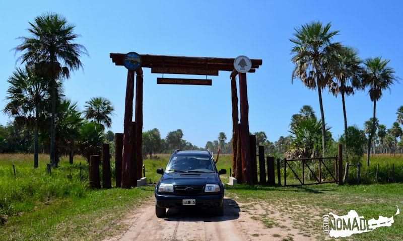 Acceso al Parque Nacional Río Pilcomayo